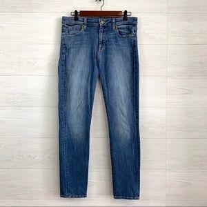 Vince Skinny Leg Faded Medium Blue Wash Jeans